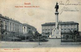 Vercelli - Piazza Torino -  - Viaggiata - 9x14 Cm.  (Voir 2 Photos) - Vercelli