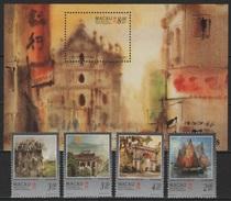 Macao - Macau (1997) Yv. 848/51 + Bf. 42  /   Art - Paintings - Peintres - Bateaux - Ships