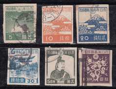 Japon 1945-1946 N° Y&T : 345,346,346B,347,348A,348B Obl.