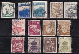 Japon 1946-1947 N° Y&T : 354 à 364 Obl.