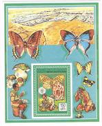 1990 1991 Mauritania Mauritanie Scouts Butterflies Souvenir Sheet   MNH - Mauritania (1960-...)