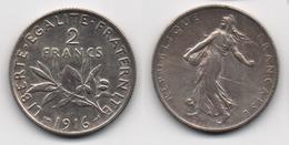 + FRANCE +  2  FRANCS 1916 + - Frankreich