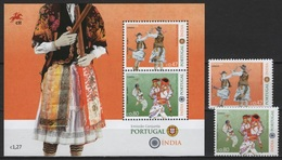 Portugal (2017)  - Set + Block -  /  Joint With India - Dress - Dances - Culture - Gezamelijke Uitgaven