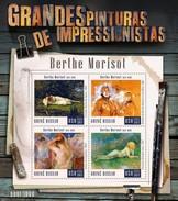 GUINE BISSAU 2015 SHEET BERTHE MORISOT ART PAINTINGS ARTE PINTURAS Gb15804a - Guinea-Bissau