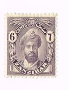 Zanzibar  , 6 Cents , Sultan Chalifa Ibn Harub 1926 - Timbres