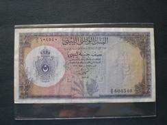 MONEY PAPER BAKNOTE LIBYA LIBYE LIBIA LIBYAN 1955 1/2 POUND OTTIMA CONSERVAZIONE