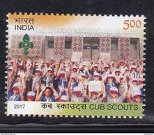 INDIA, 2017, Cub Scouts, Cub Master, 1 V, MNH, (**)
