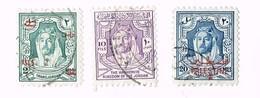 Emir Abdullah Ibn Hussein 1x 10 Fils THE HASHEMITE KINGDOM OF JORDAN , 1x 20 Mils TRANSJORDAN / Palestine , 1x 2 Mils - Palestine