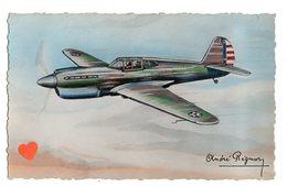 """16049-LE-AVION- Curtiss """"TOMAWACK""""-Monoplace De Chasse- 6 Mitrailleuses -Vitesse : 530 Km.-----------André Régnier - 1946-....: Moderne"""