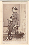 SUPERBE PHOTO CDV 19 EME MILITAIRE CAVALERIE  Cabinet J LE ROCH Photographe De L Ecole Imperiale De Cavalerie A SAUMUR - Guerre, Militaire