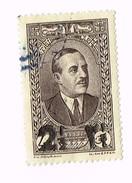"Émile Eddé , Liban , 1937-42 Scott 146 2 1/2p On 4p Black Brown ""President Emile Edde"" ,  2½ Lebanese Piastre - Liban"