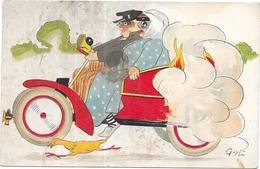 ILLUSTRATEUR  GUY L   - CPA COLORISEE - Vieille Auto  - ORL - - Illustrateurs & Photographes