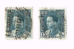 2 X Irak 1934, King Ghazi , 15 Fils , Iraq - Iraq