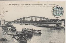 D75 - PARIS (12e Et 13e) PASSERELLE DU METROPOLITAIN QUAI D'AUSTERLITZ-PONT DE PARIS AYANT LA PLUS GRANDE OUVERTURE ... - Francia