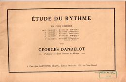 Etude Du Rythme Par Georges Dandelot, 1937 - Música & Instrumentos