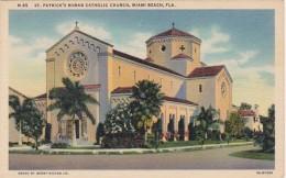 Florida Miami Beach St Patrick's Roman Catholic Church Curteich