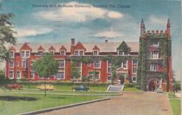 Canada Hamilton Universsity Hall McMaster University 1956