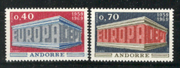 Andorra -Franc 1969 Europa. Y=194-95 E=214-15