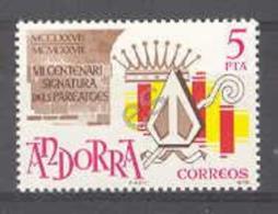 Andorra - 1978, Cent Pareatges E=119 S=105 (**) SG 110