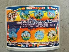 Mexique Mexico 1986 Football Ballon Drapeau