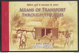 INDIA, 2017, TRANSPORT THROUGH AGES,BOOKLET Of 5 MINIATURE SHEETS,  4 DIFFERENT STAMPS IN EACH,MNH(**), 6 SCANS