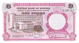 Nigeria - Pick 8 - 1 Pound 1967 - Unc - Nigeria