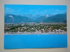 Marina Di Massa - Massa Carrara - Panorama Spiaggia Paese E Monti - Massa