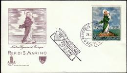 San Marino 1966 / Europa CEPT / FDC / Lady Of Europe - Europa-CEPT