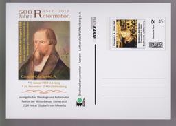 MB 3705) BRD 2017 Pluskarte Cruciger D. Ältere, Theologe Reformator Rektor, Nach Gemälde Von Lucas Cranach Der Jüngere - Christentum