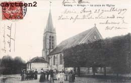 ANTONY VILLAGE PLACE DE L'EGLISE ANIMEE 92 - Antony