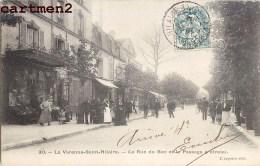 LA VARENNE-SAINT-HILAIRE LA RUE DU BAC ET PASSAGE A NIVEAU ANIMEE 94 - Unclassified