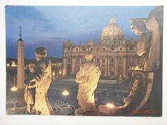Postcard Citta Del Vaticano St Peter's Square  By Night Vatican City My Ref B21286 - Vatican