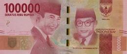 * INDONESIA 100000 RUPIAH 2016 P-160a UNC  [ID615a] - Indonesia