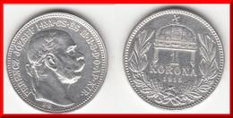 **** HONGRIE - HUNGARY - 1 KORONA 1915 FRANZ JOSEPH I - ARGENT - SILVER **** EN ACHAT IMMEDIAT !!! - Hungary
