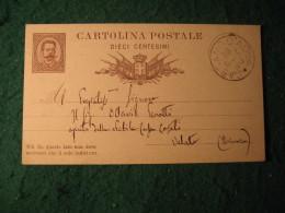 Regno Italia C. 10 Cartollina  Postale     -  16 SETTEMBRE 1880 ANNULLO CASSANO D'ADDA  -  144