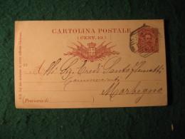 Regno Italia C. 10 Cartollina  Postale     -   12 DICEMBRE 1893 ANNULLO OTTAGONALE  A BARRE COMO -  147