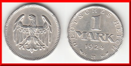 **** ALLEMAGNE - GERMANY - 1 MARK 1924 J - WEIMAR REPUBLIC - ARGENT - SILVER **** EN ACHAT IMMEDIAT - 1 Mark & 1 Reichsmark