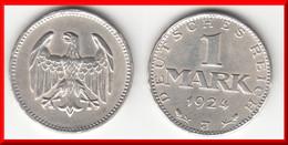 **** ALLEMAGNE - GERMANY - 1 MARK 1924 J - WEIMAR REPUBLIC - ARGENT - SILVER **** EN ACHAT IMMEDIAT - [ 3] 1918-1933 : Weimar Republic