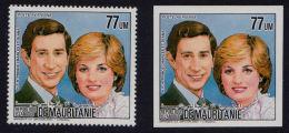 B0129 MAURITANIA (Mauritanie), Royal Wedding (Charles & Diana)  PERF & IMPERF MNH - Mauritania (1960-...)
