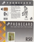 SOUTH AFRICA(chip) - Grey Card, CN : TGAC(thick, Normal 0), Telkom Telecard R50, Used