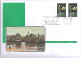 Netherlands 1996 Mi. 1563 TeleCard FDC, Vermeer, Paintings, Letter Writer And Maid - Art