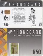 SOUTH AFRICA(chip) - Grey Card, CN : TGAC(thin, Normal 0), Telkom Telecard R50, Used