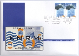 Netherlands 1999 Mi. 1716 TeleCard FDC, Country Of Water, Sea Rescue Cruiser - Ships