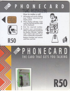 SOUTH AFRICA(chip) - Grey Card, CN :TGAC(thin, 0 With Barred), Telkom Telecard R50, Used