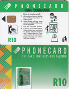 SOUTH AFRICA(chip) - Green Card, CN : TGAA(large Thick), Telkom Telecard R10, Used