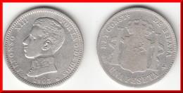 **** ESPAGNE - SPAIN - 1 PESETA 1903 ALFONSO XIII - ARGENT - SILVER **** EN ACHAT IMMEDIAT - [ 1] …-1931 : Royaume