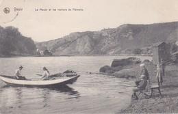 CPA  YVOIR (Belgique).  La Meuse Et Les Rochers De Fidevoie. ..F410