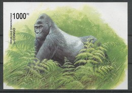 Zaire / Congo Kinshasa / RDC COB BL207ND Bloc Feuillet Non-Dentelé MNH / ** 2002 COB: 35,00€ Gorille