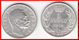 **** SERBIE - SERBIA - 1 DINAR 1915 PETER I - ARGENT - SILVER **** EN ACHAT IMMEDIAT - Serbie