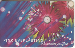 SOUTH AFRICA(chip) - Flowers/Pink Everlasting, Telkom Telecard R100, Tirage 30000, Exp.date 07/00, Used